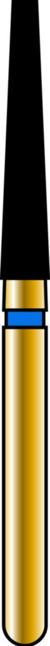 Flat End Taper 18-10mm Gold Diamond Bur - Coarse Grit