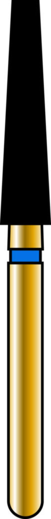 Flat End Taper 23-10mm Gold Diamond Bur