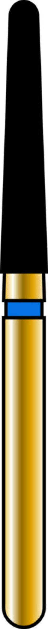 Round End Taper 18-10mm Gold Diamond Bur