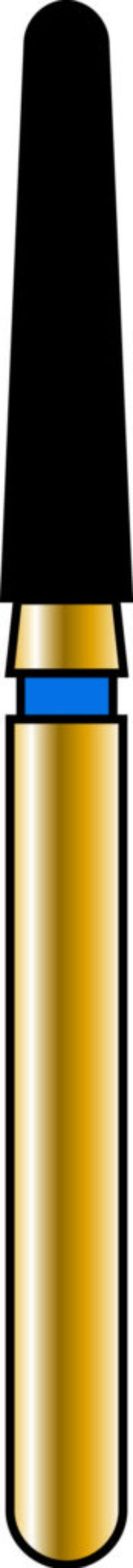 Round End Taper 18-8mm Gold Diamond Bur