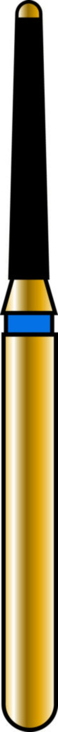 Safe End Rounded Taper 12-8mm Gold Diamond Bur - Coarse Grit