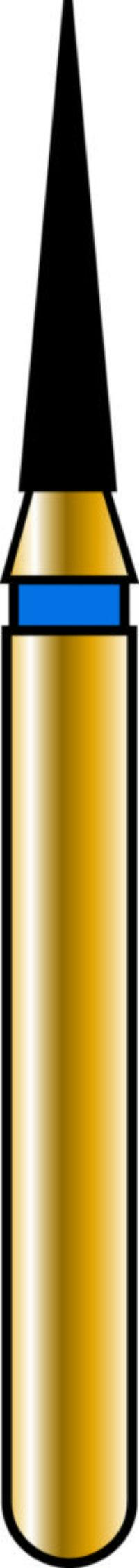 Flame 12-6mm Gold Diamond Bur