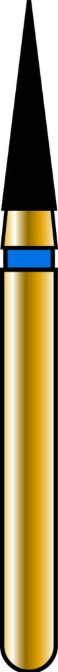 Flame 16-6mm Gold Diamond Bur