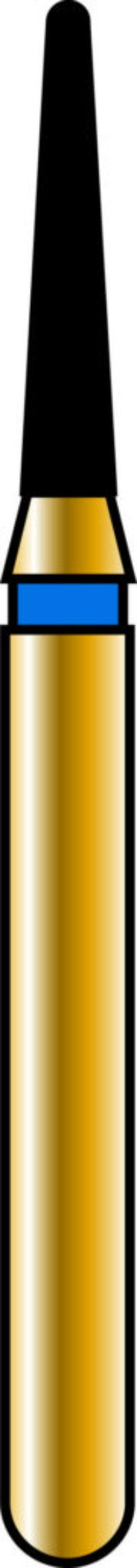 Round End Taper 12-6mm Gold Diamond Bur