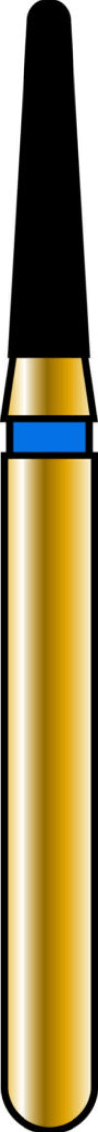 Round End Taper 14-6mm Gold Diamond Bur