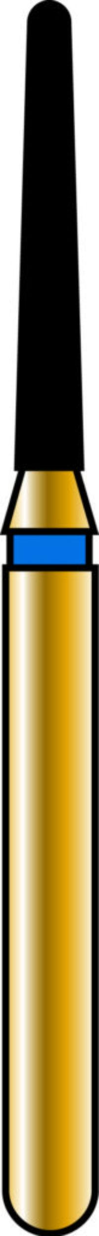 Round End Taper 12-8mm Gold Diamond Bur - Coarse Grit