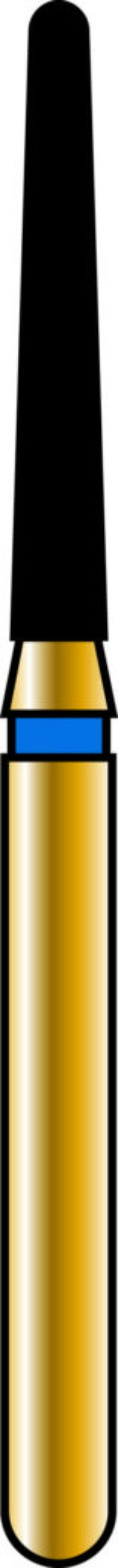 Round End Taper 14-9mm Gold Diamond Bur