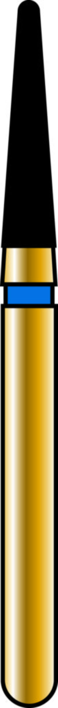 Round End Taper 16-7mm Gold Diamond Bur