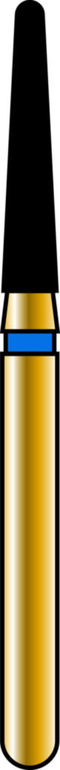 Round End Taper 16-8mm Gold Diamond Bur
