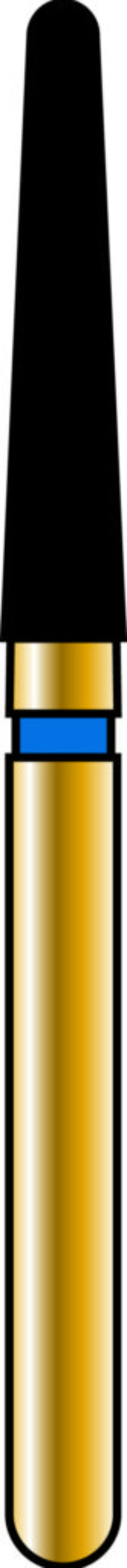 Round End Taper 18-9mm Gold Diamond Bur