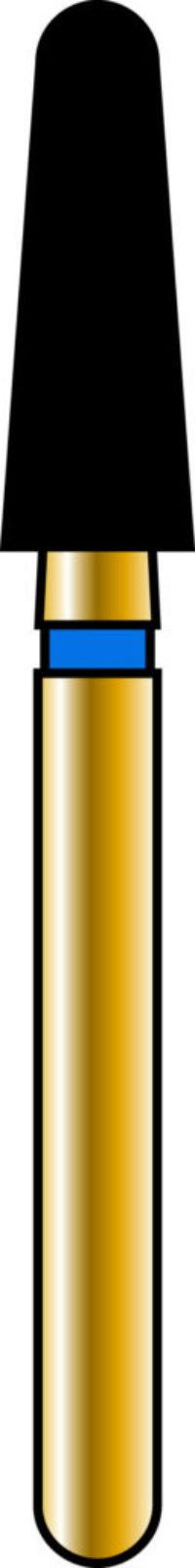 Round End Taper 25-7mm Gold Diamond Bur