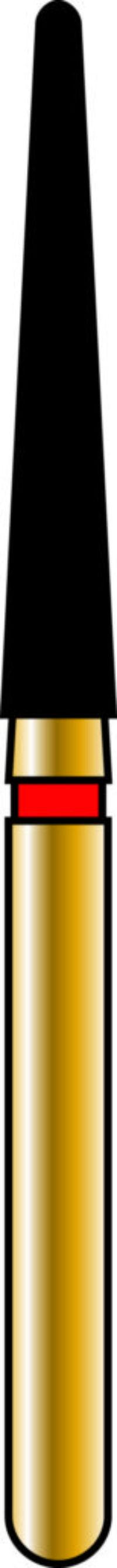 Round End Taper 18-11mm Gold Diamond Bur