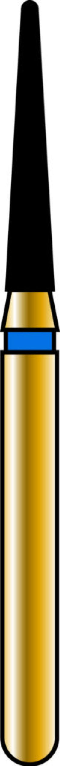 Round End Taper 14-8mm Gold Diamond Bur