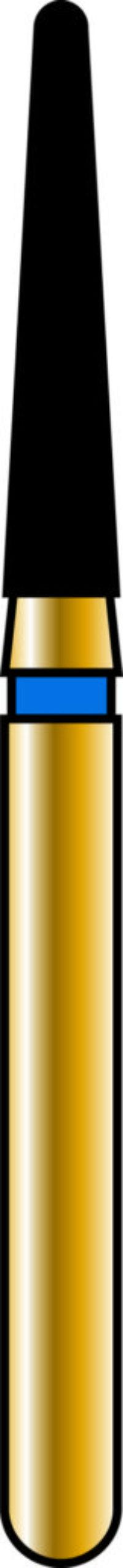 Round End Taper 16-8mm Gold Diamond Bur - Coarse Grit