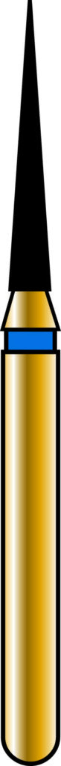 Flame 12-8mm Gold Diamond Bur