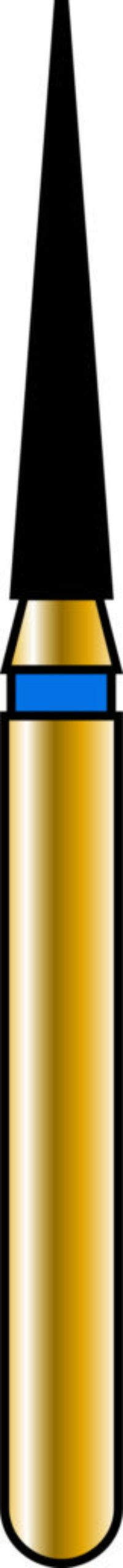 Flame 14-8mm Gold Diamond Bur