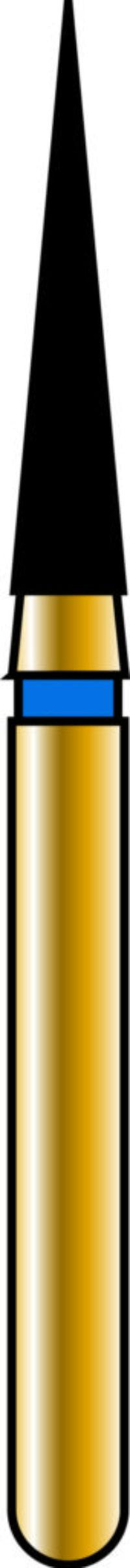 Flame 16-8mm Gold Diamond Bur - Coarse Grit