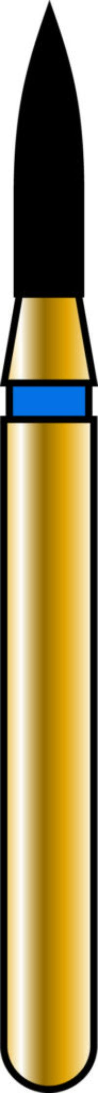 Flame 12-5mm Gold Diamond Bur