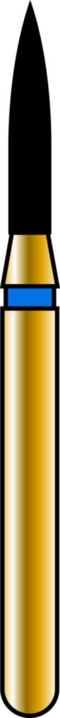 Flame 12-6.5mm Gold Diamond Bur - Fine Grit
