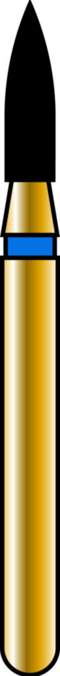 Flame 18-7mm Gold Diamond Bur - Coarse Grit