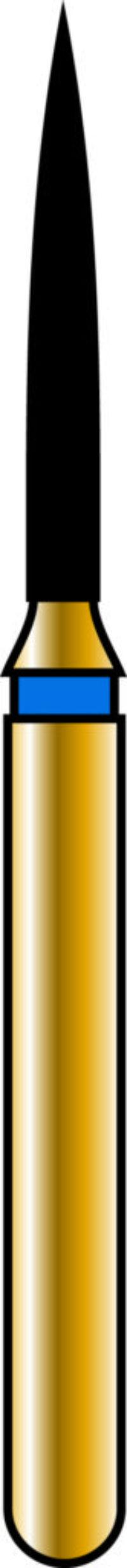 Flame 10-8mm Gold Diamond Bur