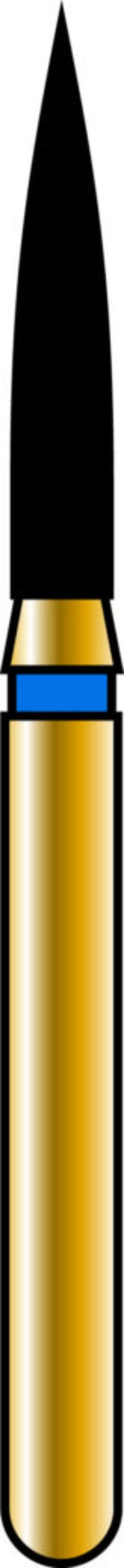 Flame 18-8mm Gold Diamond Bur - Coarse Grit