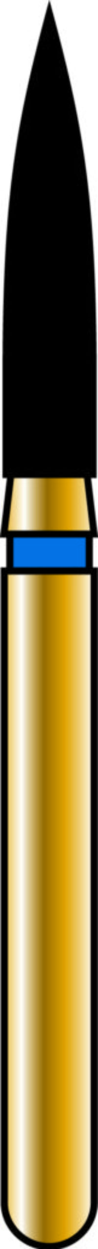 Flame 16-8mm Gold Diamond Bur