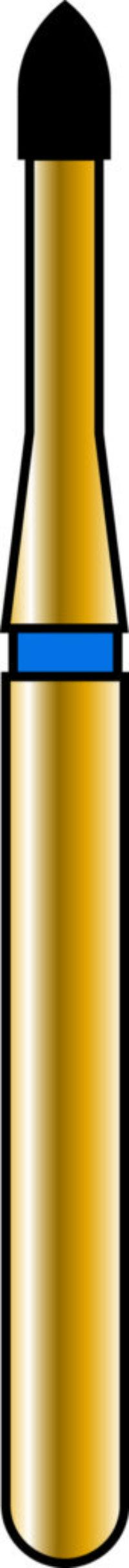Flame 12-2mm Gold Diamond Bur