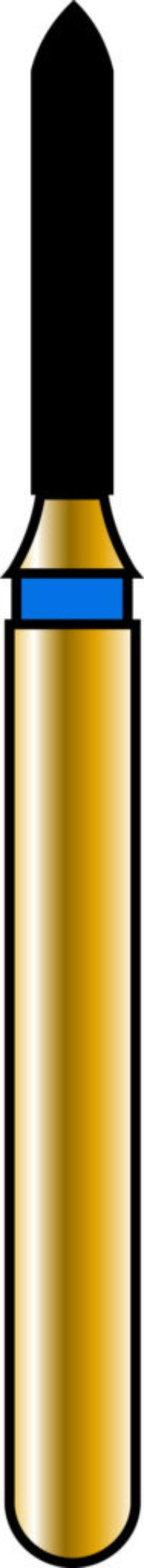 Pointed Taper 10-6mm Gold Diamond Bur