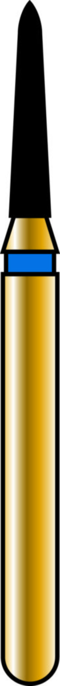 Pointed Taper 12-6mm Gold Diamond Bur