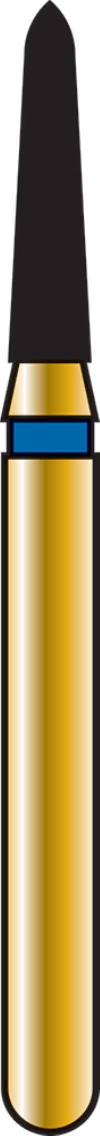Pointed Taper 14-6mm Gold Diamond Bur