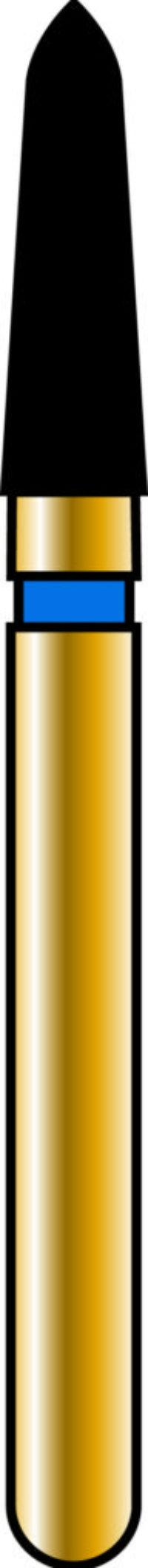 Pointed Taper 18-6mm Gold Diamond Bur