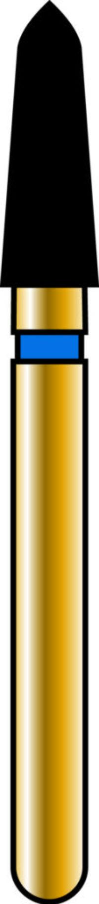 Pointed Taper 21-6mm Gold Diamond Bur - Coarse Grit