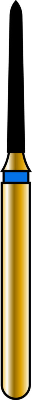 Pointed Taper 10-8mm Gold Diamond Bur
