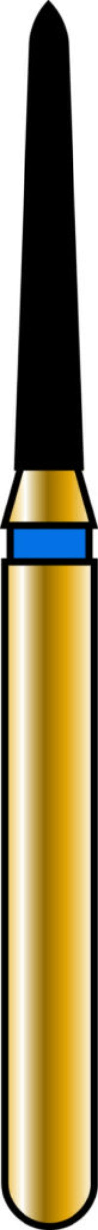 Pointed Taper 12-8mm Gold Diamond Bur