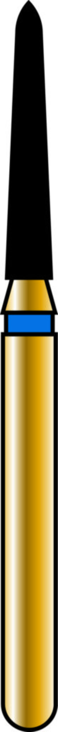 Pointed Taper 14-8mm Gold Diamond Bur