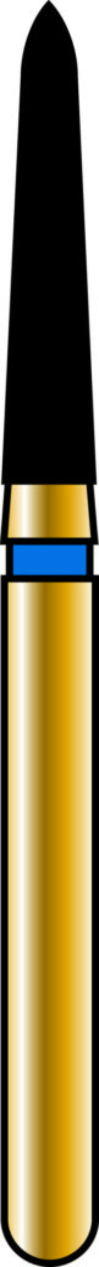 Pointed Taper 16-8mm Gold Diamond Bur