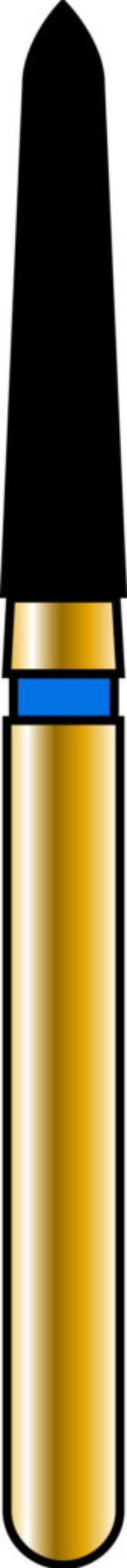 Pointed Taper 18-8mm Gold Diamond Bur