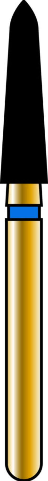 Pointed Taper 21-8mm Gold Diamond Bur