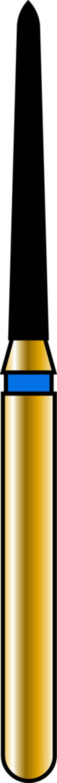 Pointed Taper 12-10mm Gold Diamond Bur