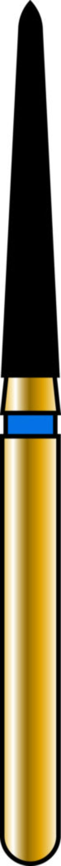 Pointed Taper 16-10mm Gold Diamond Bur