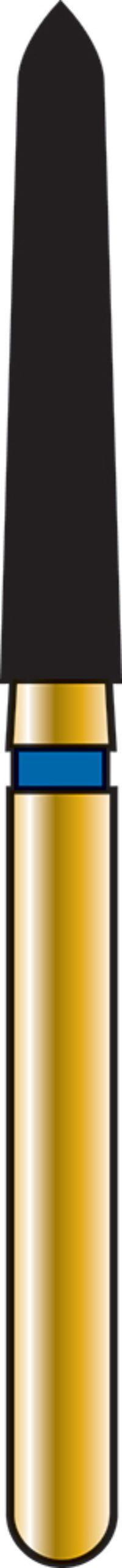 Pointed Taper 18-10mm Gold Diamond Bur
