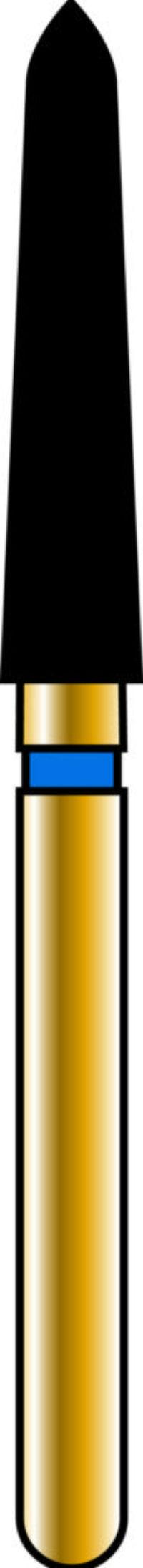 Pointed Taper 21-10mm Gold Diamond Bur