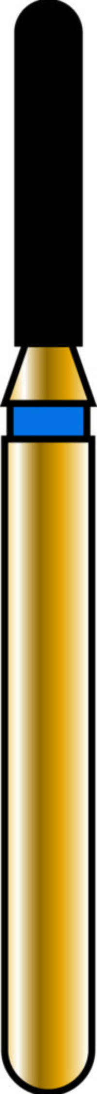 Round End Cylinder 12-6mm Gold Diamond Bur - Coarse Grit