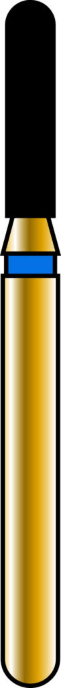 Round End Cylinder 14-6mm Gold Diamond Bur