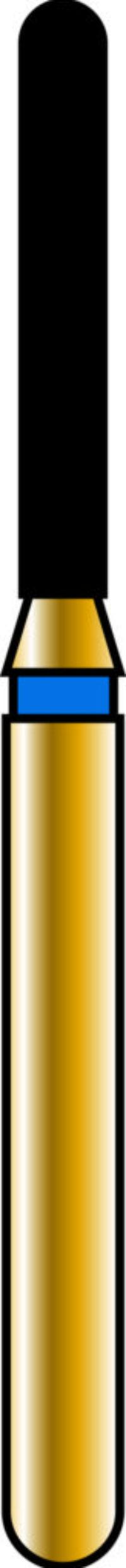 Round End Cylinder 12-8mm Gold Diamond Bur
