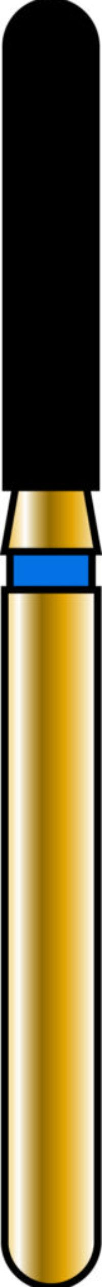 Round End Cylinder 16-8mm Gold Diamond Bur