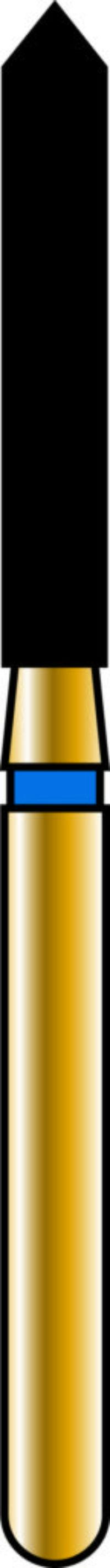 Pointed Cylinder 16-10mm Gold Diamond Bur