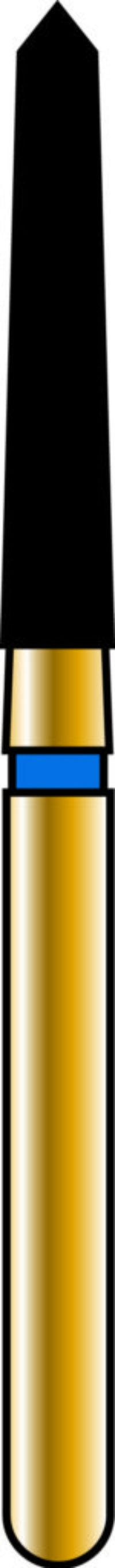 Pointed Taper 18-9.5mm Gold Diamond Bur - Coarse Grit