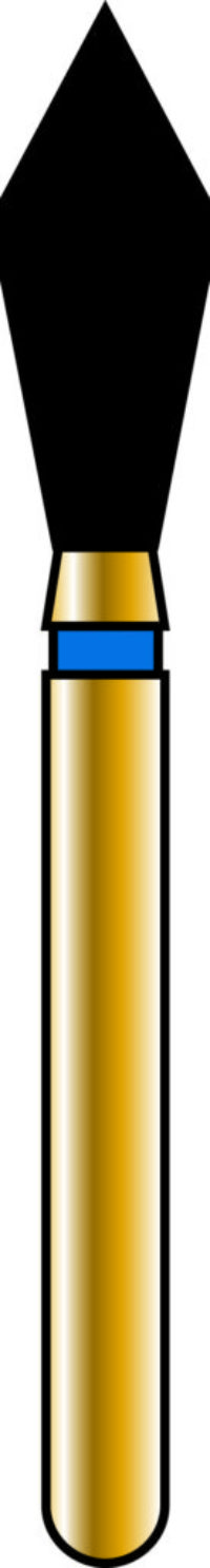 Occlusal 27-7mm Gold Diamond Bur - Coarse Grit